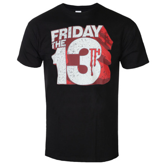 Maglietta da uomo Friday The 13th - Block Logo - Nero - HYBRIS, HYBRIS, Friday the 13th