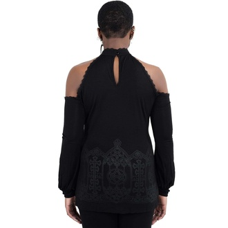 maglietta da donna manica lunga KILLSTAR - Cecila Cold Shoulder Top - Nero, KILLSTAR