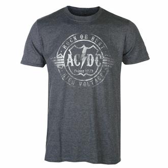 Maglietta da uomo AC/DC - Rock or Bust - HEATHER - ROCK OFF, ROCK OFF, AC-DC