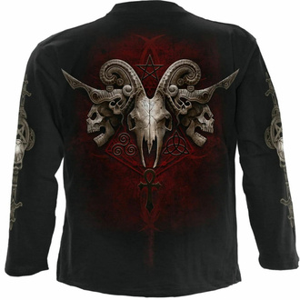 Maglietta a maniche lunghe da uomo SPIRAL - FACES OF GOTH - Nero, SPIRAL