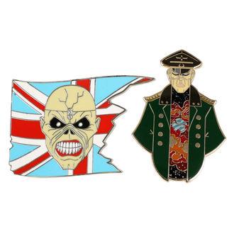 targhetta Iron Maiden - Legacy of the Beast -  Trooper  Eddie & Generale, Iron Maiden