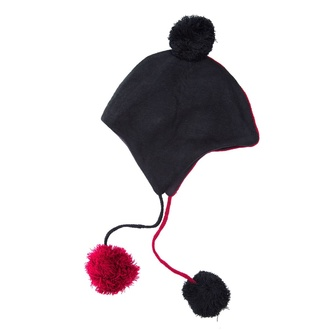 Beanie HEARTLESS - DAEMON - NERO / ROSSO, HEARTLESS