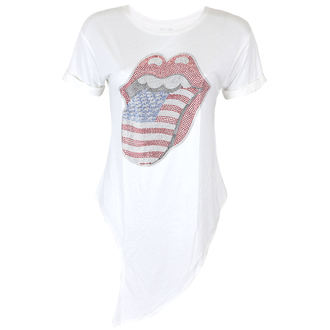 t-shirt metal donna Rolling Stones - RS USA BLING TONGUE WHITE - PLASTIC HEAD, PLASTIC HEAD, Rolling Stones