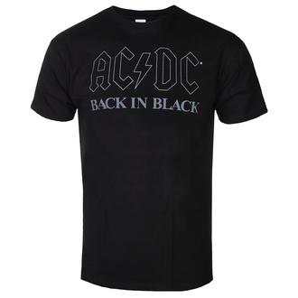 Maglietta da uomo AC / DC - Back In Black - BL - ROCK OFF - ACDCTS82MB