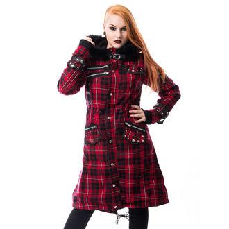 cappotto da donna POIZEN INDUSTRIES - DARE - ROSSO DAI UN'OCCHIATA, POIZEN INDUSTRIES