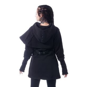 felpa con capuccio donna - DARK CAPE - CHEMICAL BLACK