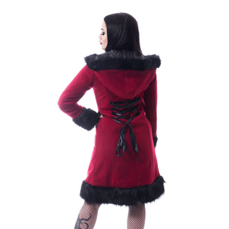 Cappotto da donna POIZEN INDUSTRIES - DARK MASE - ROSSO, POIZEN INDUSTRIES