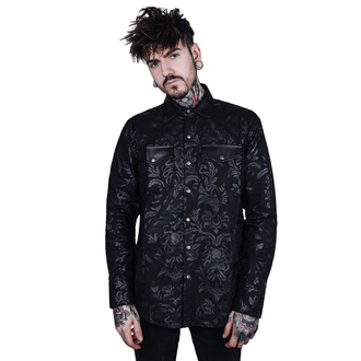 Camicia da uomo KILLSTAR - Dark Ocean Button - NERO, KILLSTAR