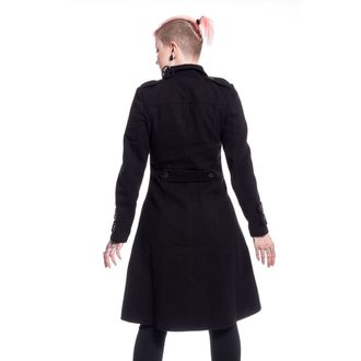 Cappotto POIZEN INDUSTRIES - DARK ROMANCE - NERO, POIZEN INDUSTRIES