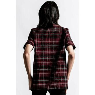 Camicia da uomo KILLSTAR - Daze Button-Up - BLOOD TARTAN, KILLSTAR