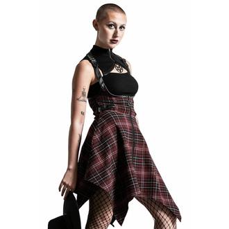 Gonna da donna KILLSTAR - Dazed & Confused Suspender - BLOOD TARTAN, KILLSTAR