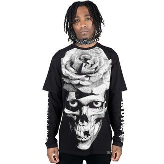 Maglietta unisex a maniche lunghe KILLSTAR - Dead Rose Double - NERO, KILLSTAR