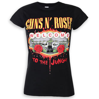 t-shirt metal donna Guns N' Roses - Welcome To The Jungle - ROCK OFF, ROCK OFF, Guns N' Roses