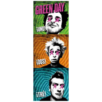 Bandiera Green Day - 1-2-3, HEART ROCK, Green Day