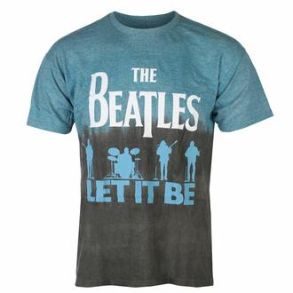 Maglietta da uomo Beatles - Let It Be Split BLUE Dip-Dye - ROCK OFF, ROCK OFF, Beatles
