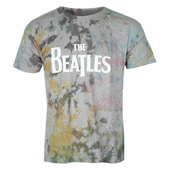 Maglietta da uomo Beatles - Drop T Logo GRIGIO Dip-Dye - ROCK OFF, ROCK OFF, Beatles