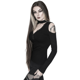 Maglietta da donna con maniche lunghe KILLSTAR - Downward Spiral Cold-Shoulder Top, KILLSTAR