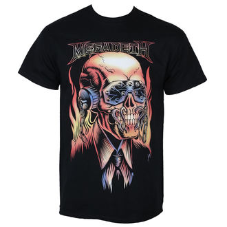 t-shirt metal uomo Megadeth - FLAMING VIC - PLASTIC HEAD, PLASTIC HEAD, Megadeth