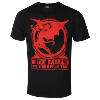 Maglietta da uomo Black Sabbath - Europe '75 - ROCK OFF, ROCK OFF, Black Sabbath