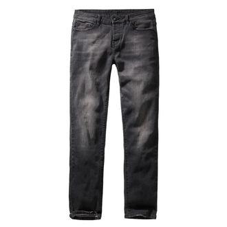 Uomo i pantaloni BRANDIT - Rover - Nero denim - sottile in forma, BRANDIT