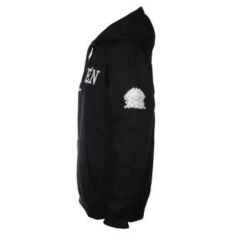 Felpa da uomo con cappuccio Queen - Logo & Crest Applique - ROCK OFF, ROCK OFF, Queen