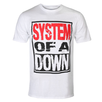 Maglietta da uomo System Of A Down - Triple Stack - WHT - ROCK OFF, ROCK OFF, System of a Down