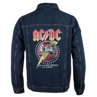 Giacca da uomo AC / DC - About To Rock - DENIM - ROCK OFF, ROCK OFF, AC-DC