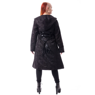 Cappotto da donna POIZEN INDUSTRIES - ETERNAL ROSE - NERO, POIZEN INDUSTRIES