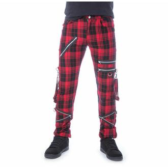 Pantaloni da uomo CHEMICAL BLACK - ETIENNE - TARTANO ROSSO, CHEMICAL BLACK