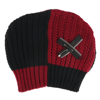 Beanie HEARTLESS - PITCH HATE - ROSSO / NERO, HEARTLESS