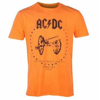 maglietta da uomo AC/DC - FOR THOSE ABOUT TO ROCK  - ORANGE CRUSH - AMPLIFIED, AMPLIFIED, AC-DC