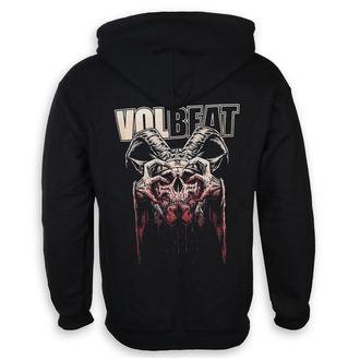 felpa con capuccio uomo Volbeat - Bleeding Crown Skull - ROCK OFF, ROCK OFF, Volbeat