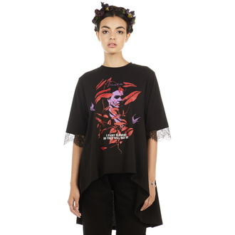t-shirt hardcore donna - Frida Flowers - DISTURBIA, DISTURBIA