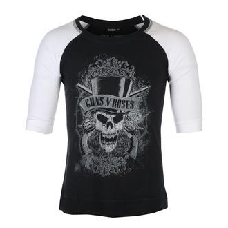 Maglietta con maniche a 3/4 unisex Guns N' Roses - Faded Skull - BL / WHT Raglan - ROCK OFF, ROCK OFF, Guns N' Roses