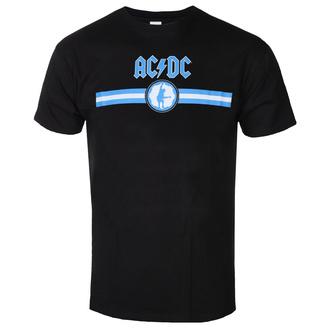 Maglietta da uomo AC / DC - Blue Logo & Stripe - BL - ROCK OFF, ROCK OFF, AC-DC