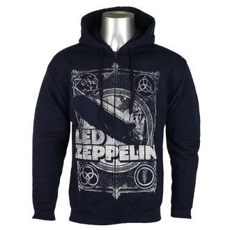felpa con capuccio uomo Led Zeppelin - Navy - NNM, NNM, Led Zeppelin