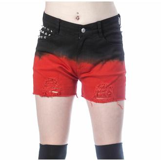 Pantaloncini da donna VIXXSIN - GAIA - NERO/ROSSO, VIXXSIN
