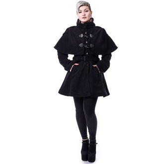 Cappotto da donna Poizen Industries - GHOST TOWN - NERO, POIZEN INDUSTRIES