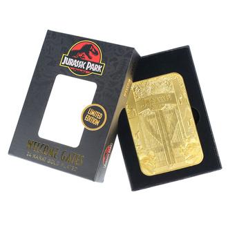 Decorazione Jurassic Park - Card Metal Entrance Gates - oro placcato, NNM, Jurassic Park