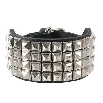 Bracciale con borchie a piramide 4, Leather & Steel Fashion