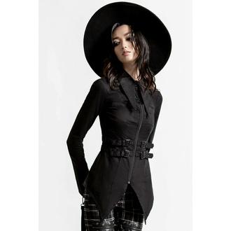 Camicia da donna KILLSTAR - Haze & Confused Zipper - Nero, KILLSTAR