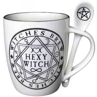 Tazza con cucchiaio ALCHEMY GOTHIC - Hexy Witch, ALCHEMY GOTHIC