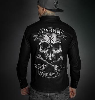 Camicia da uomo HYRAW - ADDICT - GRIGIO - FW21-M32-CH