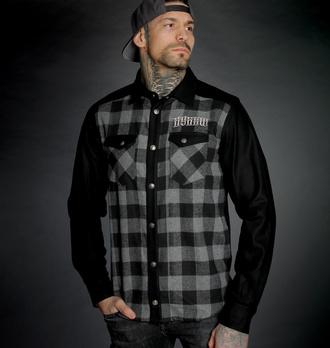 Camicia da uomo HYRAW - ADDICT - GRIGIO, HYRAW