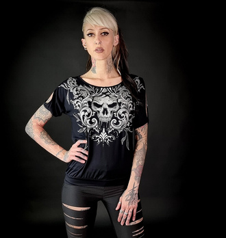 Maglietta da donna HYRAW - NIGHTMARE - FW21-W08-TSF