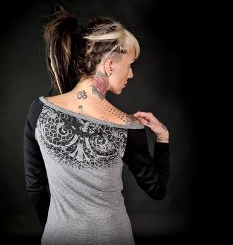 Maglietta da donna a maniche lunghe HYRAW - ORNAMEN, HYRAW