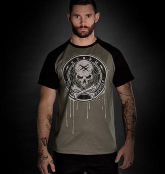 Maglietta da uomo HYRAW - BLAZON - GRIGIA - FW21-M16-SST