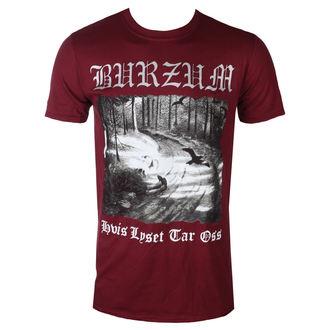 t-shirt metal uomo Burzum - HVIS LYSET TAR OSS (MAROON) - PLASTIC HEAD, PLASTIC HEAD, Burzum