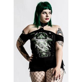 Maglietta da donna (top) KILLSTAR - Illuminated Choker - Nero, KILLSTAR