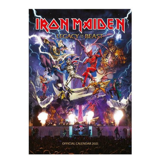 Calendario IRON MAIDEN 2021, NNM, Iron Maiden